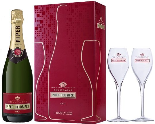 Champagne Piper-Heidsieck Brut (gift box Off Trade with two glasses)