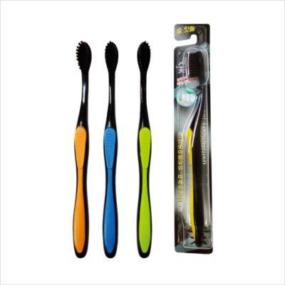 Mashimaro Nano Charcoal Toothbrush Зубная щетка с бамбуковым угольным напылением (средней жесткости)