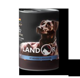Ландор для собак всех пород ягненок с лососем 400г