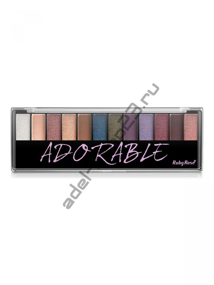 Ruby Rose - Тени для век №HB-9909 ADORABLE 12-ти цветные