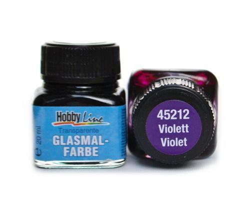 Витражная лаковая краска Hobby line, цвет 45212 Violett, 20 мл