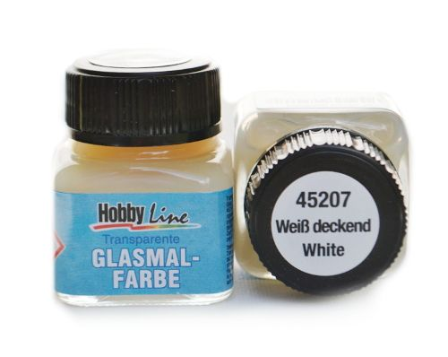 Витражная лаковая краска Hobby line, цвет 45207 White, 20 мл