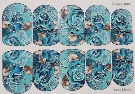 3D Слайдер-дизайн - 25 - Голубые розы