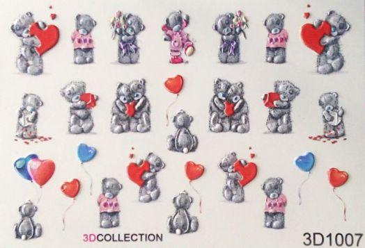 3D Слайдер-дизайн - 1007 - Плюшевые мишки, сердечки, любовь