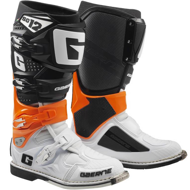 Gaerne - SG-12 Orange Black White мотоботы, оранжево-черно белые
