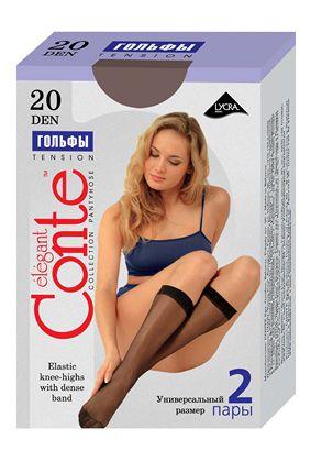 Tension 20 den, Conte™ гольфы женские (23-25)