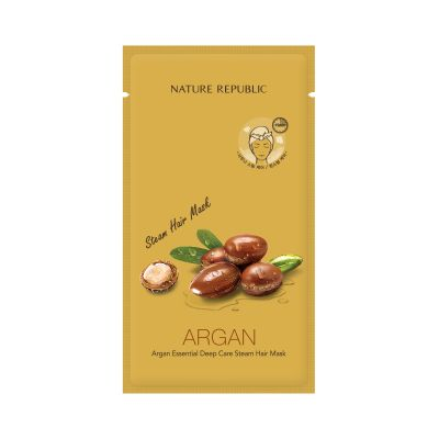 Маска для волос восстанавливающая с арганой Nature Republic ARGAN ESSENTIAL DEEP CARE STEAM HAIR MASK 30мл