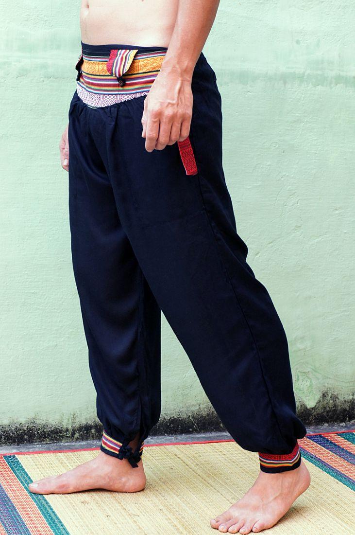 Стильные брюки шаровары с непальским поясом (отправка из Индии)