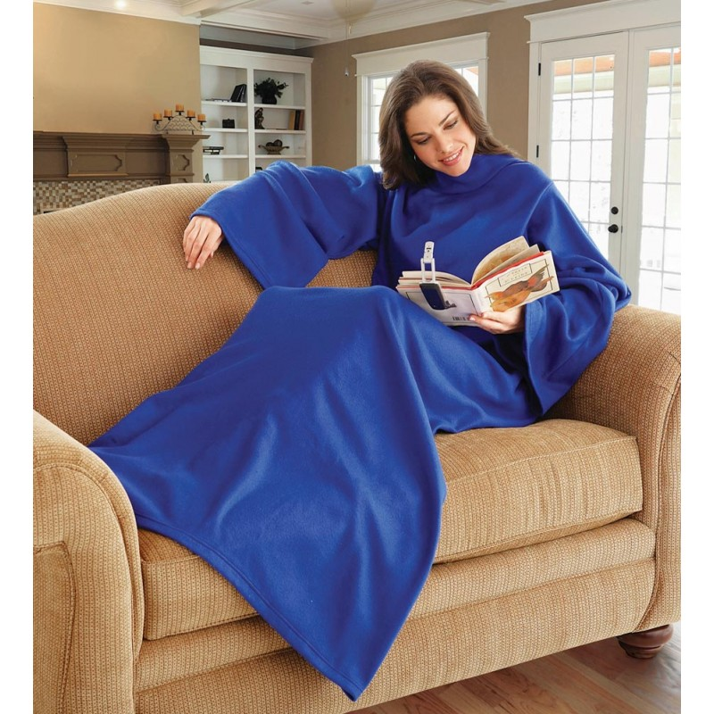 Одеяло-плед с рукавами Snuggie (Снагги), цвет синий