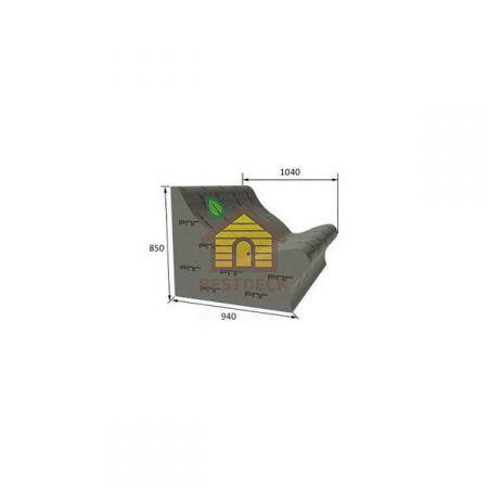 Лежак Forma Ruspanel 850*940*1040 мм