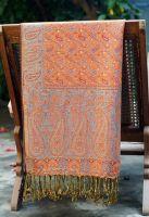 Индийский двухсторонний палантин из мягкого плотного хлопка. Интернет-магазин в Санкт-Петербурге