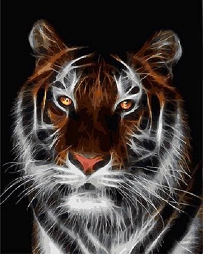 """""""Тигр"""" живопись на холсте 40х50см"""