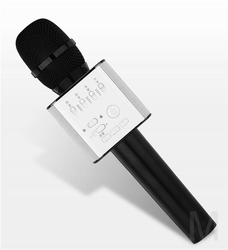 Micgeek Q9 беспроводной микрофон bluetooth для смартфонов, телефонов android и Iphone (черный)