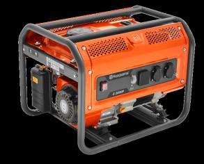 Генератор Husqvarna G3200P (Двигатель Husqvarna, 212cм3, ручной запуск, 3 кВт(макс.), 230В, 50Гц, 1 фаза, преобразователь 12В)