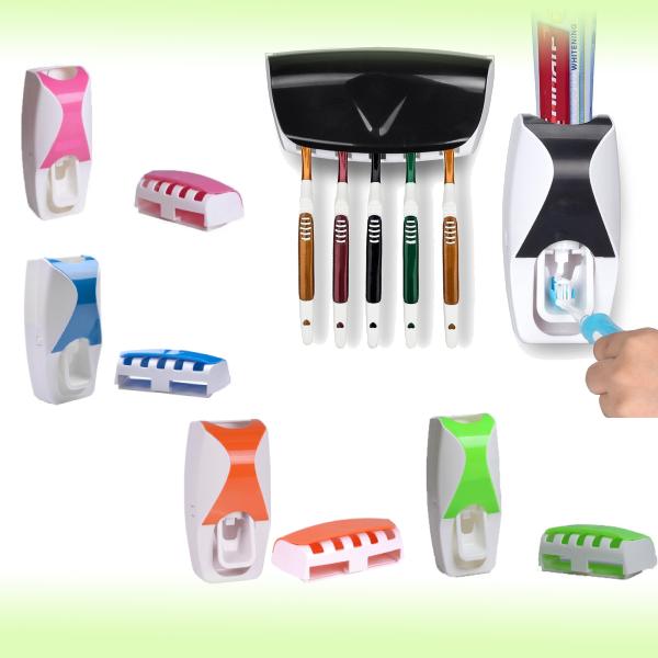 Дозатор-диспенсер зубной пасты  и держатель для щёток