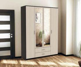 """Шкаф """"Квадро"""" с зеркалами ( 2200х1600х482 мм) ВхШхГ"""