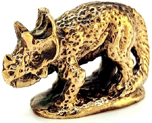 Фигурка Динозавр (Трицератопс) Бронза