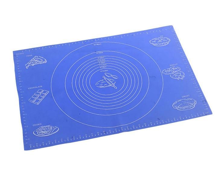 Силиконовый Коврик Для Раскатывания Теста, 50х40 См, Цвет Синий