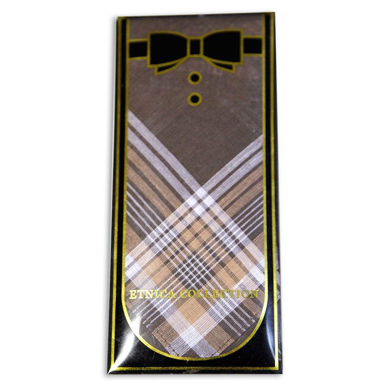 Мужской носовой платок в подарочной коробке Пд2-01д 100% х/б