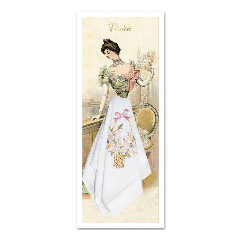 Подарочный женский носовой платок Пс10 100% х/б