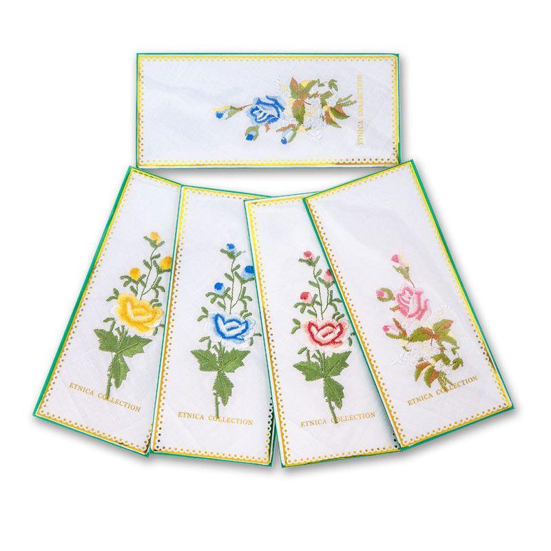 Женский носовой платок в подарочной коробке Пв2Е 100% х/б