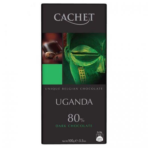 "Шоколад ""Cachet""  Uganda Dark Chocolate 80%, 100 г"