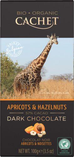 "Шоколад ""Cachet"" Dark Chocolate With Apricots & Hazelnuts Tanzania, 57% Cocoa, 100 г"