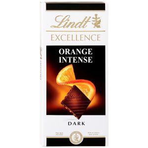 Шоколад Lindt Еxcellence темный с кусочками апельсина и миндаля 100г