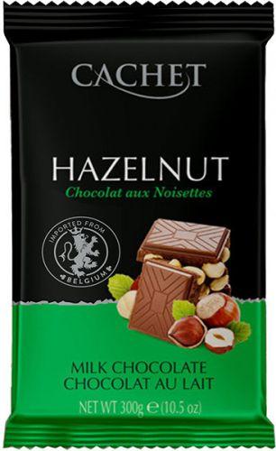 """Шоколад """"Cachet"""" Milk Chocolate with Hazelnut, 32% Cocoa, 300 г"""