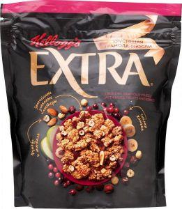 Гранола-мюсли хрустящая Kellogg's Extra с орехами, фруктами и ягодами, 300 г