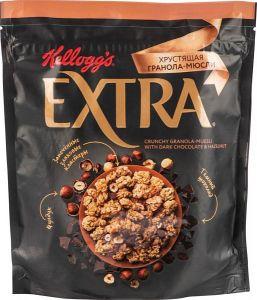 Гранола-мюсли хрустящая Kellogg's Extra с темным шоколадом и фундуком, 300 г
