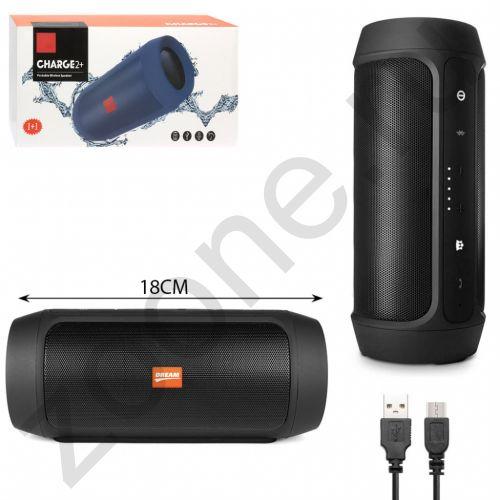 Колонка BLUETOOTH CHARGE 2 PLUS черный (FM, AUX, microSD, USB, Power Bank) DREAM (X4, X3, X5) (скидка 20 процентов)