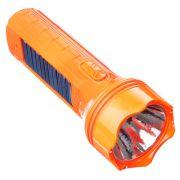ЕРМАК Фонарь мини, 4+1LED, пластик, 6x16см, пит. 220В / солн.батарея
