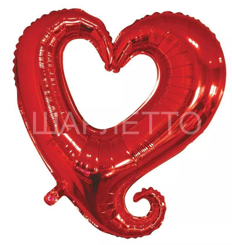 Фигурное сердце красное
