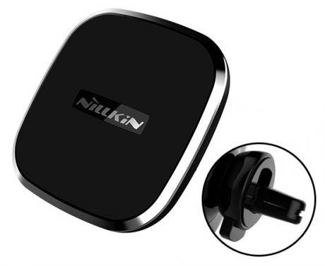 Автомобильный держатель для телефона в дефлектор с беспроводной зарядкой Nillkin II-B - Черный