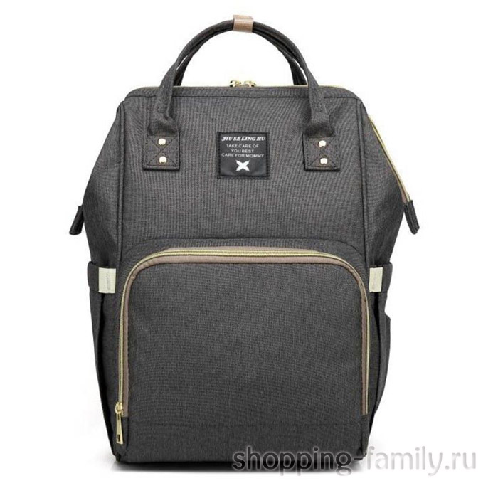 Сумка-рюкзак для мамы Mummy Bag, цвет темно-серый