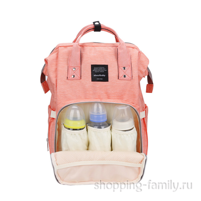 Сумка-рюкзак для мамы Mummy Bag, цвет персиковый