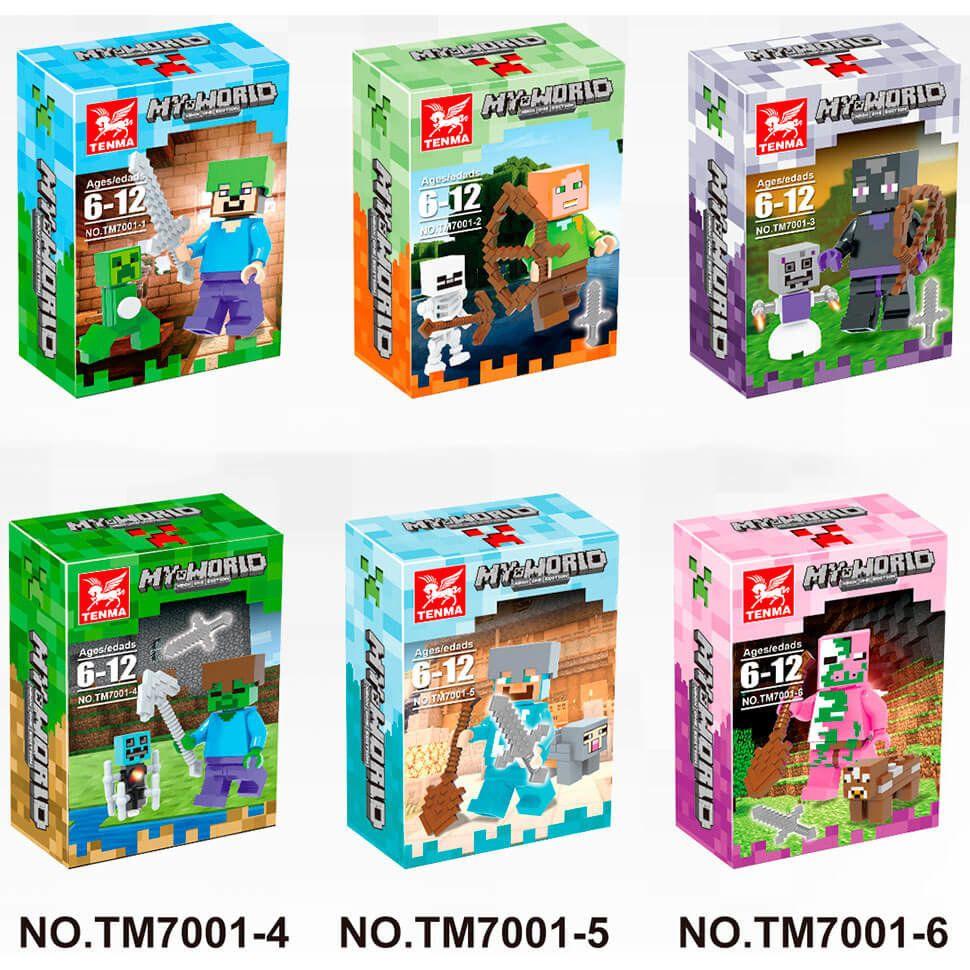 Набор 6 фигурок Майнкрафт Tenma 7001