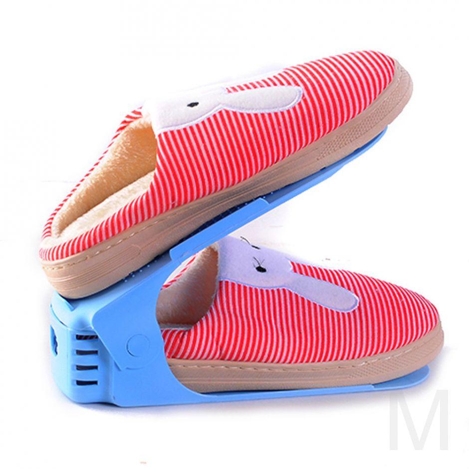 Двойная подставка для обуви Double Shoe Racks (голубой)