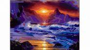 """Раскраска по номерам """"Шторм на море"""", А3 (арт. Р-5482)"""