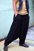 Черные тёплые штаны алладины (афгани) из натуральной шерсти. Купить в СПб, интернет магазин