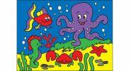 """Раскраска песком А5 """"Морской мир"""" (арт. Р-4397)"""