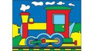 """Раскраска песком А5 """"Поезд"""" (арт. Р-4394)"""