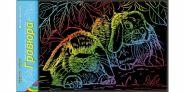 """Гравюра А4 в пакете с ручкой. Радуга """"Милые кролики"""" (арт. Г-6184)"""