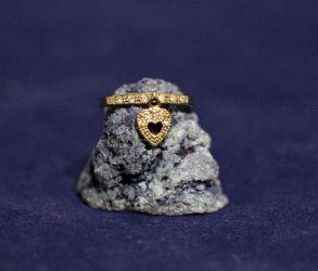 """Позолоченное кольцо с подвеской """"Сердце"""" (арт. 880203)"""