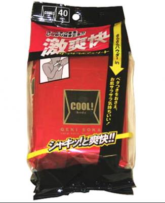 Showa Siko Cool! Освежающие влажные салфетки для тела с ароматом ментола 40шт 200мм х 250мм