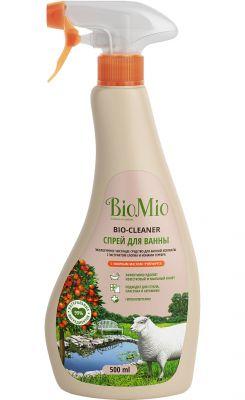 BioMio Bio-Bathroom Cleaner Экологичное чистящее средство для ванной комнаты с экстрактом хлопка и ионами серебра с эфирным маслом грейпфрута 500 мл с распылителем