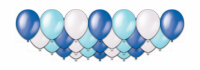 """Набор воздушных шаров с гелием """"благородные оттенки голубого"""", 25 штук"""