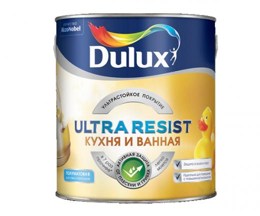 Dulux Ultra Resist  Кухня и ванная ультрастойкая краска для влажных помещений матовая