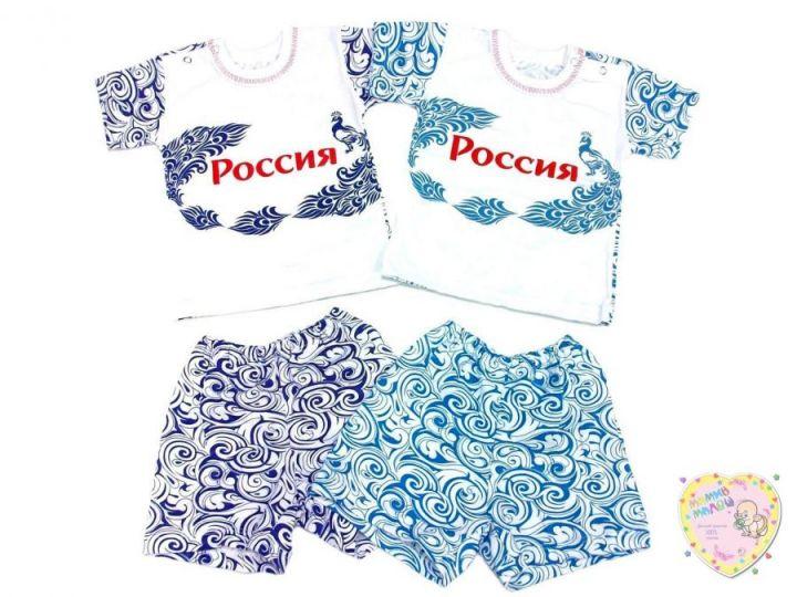 Костюм: футболка 2 кн. шорты kA-KS069(2)-SUk (супрем, Россия)